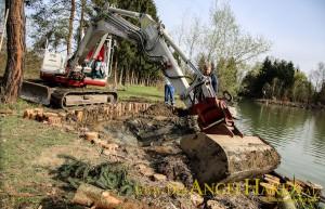 Bauarbeiten Flachwasserzone Lannach