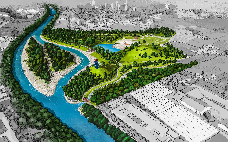 Flusspark Uebersicht