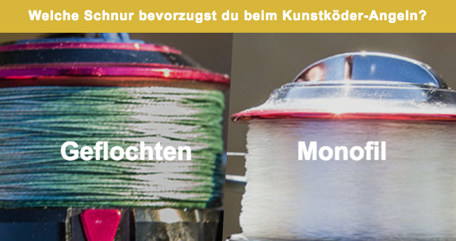Geflochten oder Monofil?Welche Schnur benutzt du zum Kunstköder-Angeln?