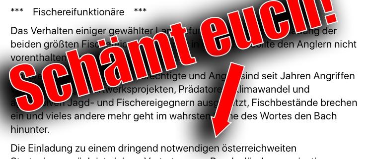 Österreichs Fischereiverbände uneins und ignorieren Einladung zur Zusammenarbeit.